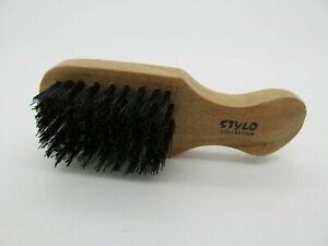 Beard Hair Brush Halal Vegan Animal Free Stiff Bristle Small Club Brush - 5 Row