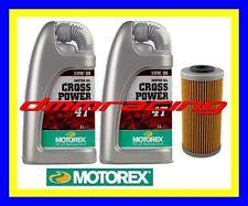 Kit Tagliando BMW G450 X 09>10 Filtro Olio MOTOREX Cross Power 10W/50 2009 2010