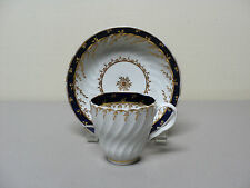 18th C. JOHN ROSE COALPORT HARD-PASTE PORCELAIN CUP & SAUCER, c. 1796-1800