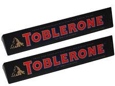Lot de 2 toblerone de 360 grammes au chocolat noir, livré neuf emballé (PR).