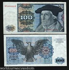 GERMANY 100 MARKS P34A 1970 MUNSTER EAGLE EURO XF RARE CURRENCY MONEY BILL NOTE