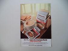 advertising Pubblicità 1978 CAPPUCCINO NESTLE'