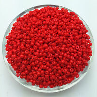 Wholesale 200pcs 4mm Red Czech Glass Seed Spacer beads Jewelry Fitting