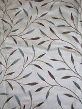 John Lewis Christine Embroidered Fabric 71cm x 131cm Duck Egg