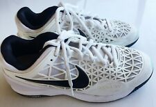 *NIKE ZOOM* CAGE 2 White Metallic Silver Men's Tennis Shoes Size 9 Sneakers FAB