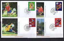 FRANCE lot de 12 enveloppes 1er jour d'émission diff. FOOTBALL Coupe monde 1998