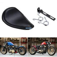 Nero Solo Selle Sella Molle Staffa Kit per Harley Honda Suzuki Bobber Chopper
