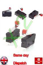 2 pcs Micro interrupteur fin de course levier à galet Arm SNAP ACTION inverseurs Action CNC Home