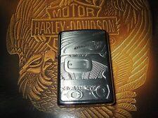 Zippo Harley Davidson V - Engine von 1994 Chrom Emblem