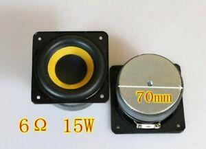 """2pcs 3""""inch 6ohm 15W Mid bass speaker Woofer Loudspeaker woven basin"""