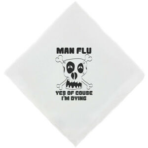 MAN FLU - YES OF COURSE Mens Novelty Handkerchief Funny Hankie Fun Gifts for Men
