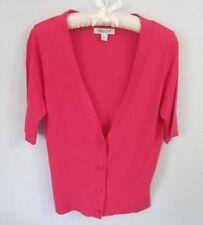 Coldwater Creek fuchsia rayon blend short sleeve cardigan sweater *Sz XS*