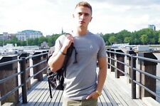 Arize Lifestyle Core T-Shirt - (Grey, Large) - Physique, Gym, Slim Fitting