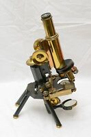 Antique Brass Microscope, J Swift & Son, London Patent 24960 for restoration