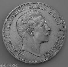 5 Mark Silbermünze Dt. Kaiserreich 1908 A - Wilhelm II. dt. Kaiser v. Preussen