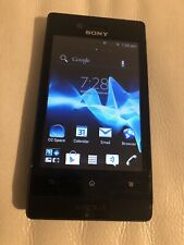 Good Condition Sony Xperia Miro ST23i Black Unlocked Smartphone -good Condition