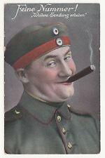 Patriotik Ak Feine Nummer ! Soldat raucht Zigarre 1916 IWW  (A 121