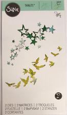 """Stanzschablone Thinlits """"Birds and Stars - Vögel und Sterne"""" Sizzix 662673"""