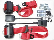 Set di ROSSA CINTURE DI SICUREZZA FIAT 124 SPIDER, ALFA ROMEO, Red seatbelt Set, BMW