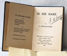 In his name, Jinarajadasa C., Theosophical Publishing House Adyar, Madras India