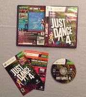 Just Dance 4 (Microsoft Xbox 360, 2012) CIB Complete w/ Case & Manual! TESTED!