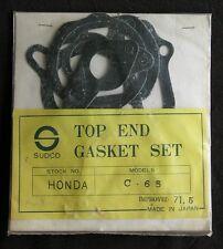NOS HONDA C65 TOP END GASKET KIT! FREE USA SHIPPING!