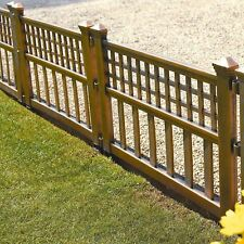 Confezione di 12 pannelli in plastica BRONZO recinzione giardino prato bordatura paesaggio vegetale bordo