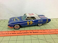 vintage Japan tin friction FORD Thunderbird  race car, FREE shipping! as-is