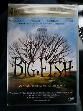 Big Fish (Dvd 2004) Movie Ewan Mcgregor Jessica Lange Tim Burton New Sealed !