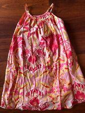 girls GAP KIDS SUMMER SUN DRESS floral CORAL MELON sleeveless FULL  size 8