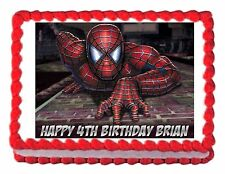 SPIDERMAN party edible cake topper cake image frosting sheet - personalized free