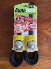Kanulock Lockable Steel Tie Down Straps 13 Foot Surf Kayak Paddle Board 2 Keys
