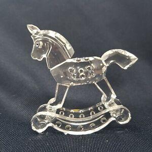 Swarovski Silver Crystal Rocking Horse 7619 NR. 000 001