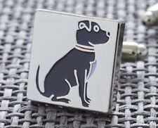 Staffie Dog Cufflinks | Silver Plated | Gift Box | Cool Dad Present | Free P&P