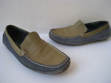 ROCKPORT TWO TONE WASHABLE LEATHER DRIVING MOCCASINS MEN SIZE US 10.5. COMFORT