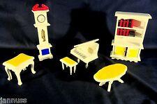 d'occasion Maison de poupée Salon Meuble Horloge sur pied Piano Vitrine