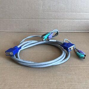 Dell 0J5471 KVM Cable - PS2 VGA Keyboard Video Mouse - J5471