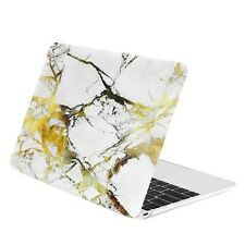 """White/Gold Marble Matte Case for for Macbook 12"""" with Retina Display Model A1534"""