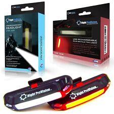 Night Provision Front & Rear Bike Light Headlight Tailight Combo Set USB Rech...