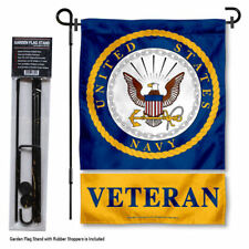 U.S. Navy Veteran Garden Flag and Yard Stand Included