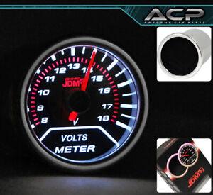 """Universal 52mm V Volt Voltage 2"""" Gauge Meter Electric Red Analog Needle Monitor"""
