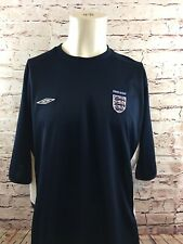 England National Football Soccer Jersey Umbro Blue White Men's Size XXL