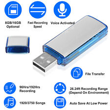 Mini Usb Disk Flash Drive Digital Voice Activate Audio Recorder Recording 8/16Gb