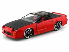 JADA 1:24 DISPLAY BIG TIME MUSCLE 1985 CHEVROLET CAMARO Diecast Car Red 91444