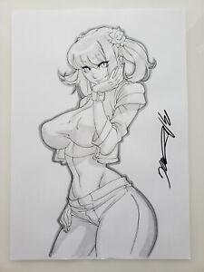 PUNKY BREWSTER Girl Sexy Busty Original Sketch Pinup - DaiKon Art
