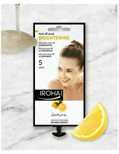 Iroha Nature Lemon Skin Brightening Peel-Off Face Mask 5 Use Sachet Paraben Free