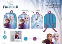 Frozen II Anna Elsa Olaf Cambia Colore Lustrini Scuola Borsa Zaino 346