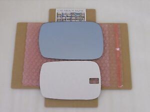 F139LB Mirror Glass for 2007-013 Acura MDX BLUE Driver Side Left + FULL ADHESIVE