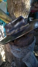 COWBOY HAT BUSH HAT HATS LEATHER HIDE MEXICO MEXICAN COUNTY AND WESTERN SIZE (M)