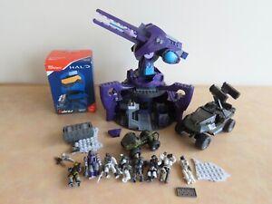 Bundle of Halo & Call of Duty Mega Bloks Lot Covenant Anti Aircraft Gun, Figures
